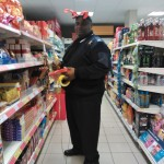 Xmas security guard at Tesco